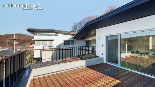 Nhà đẹp 2 tầng hình chữ V ở Hàn Quốc 08
