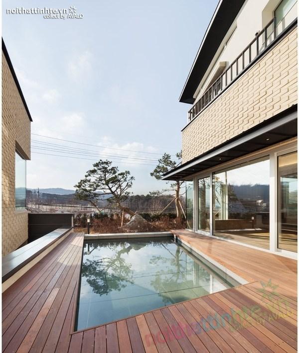 Nhà đẹp 2 tầng hình chữ V ở Hàn Quốc 02