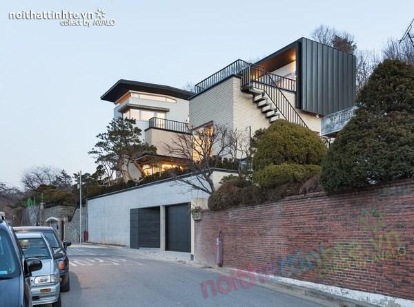 Nhà đẹp 2 tầng hình chữ V ở Hàn Quốc 04