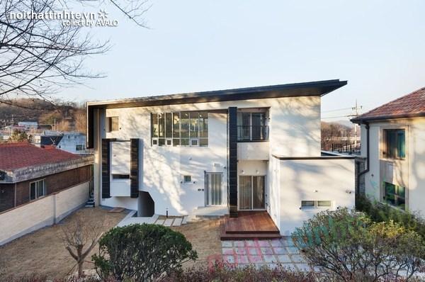 Nhà đẹp 2 tầng hình chữ V ở Hàn Quốc 07