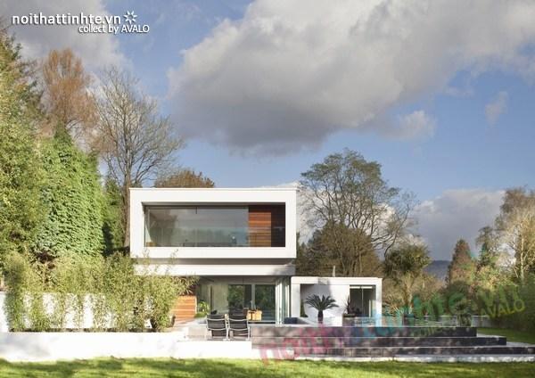 Thiết kế nội thất biệt thự White Lodge 01