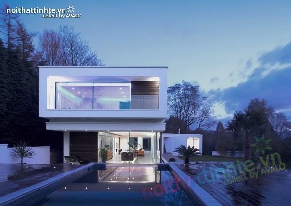 Thiết kế nội thất biệt thự White Lodge 03