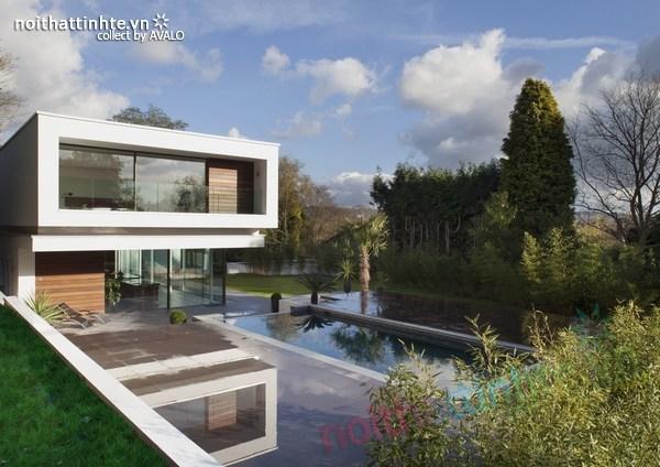 Thiết kế nội thất biệt thự White Lodge 07