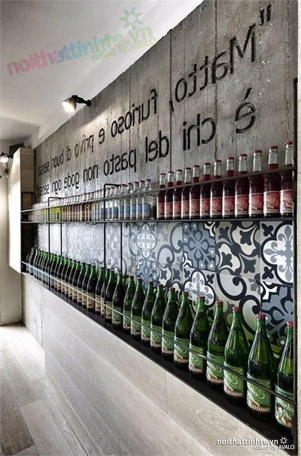 Thiết kế nội thất nhà hàng thanh lịch Marchi 04