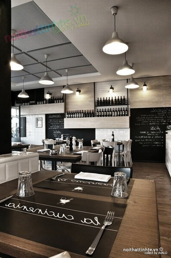 Thiết kế nội thất nhà hàng thanh lịch Marchi 05