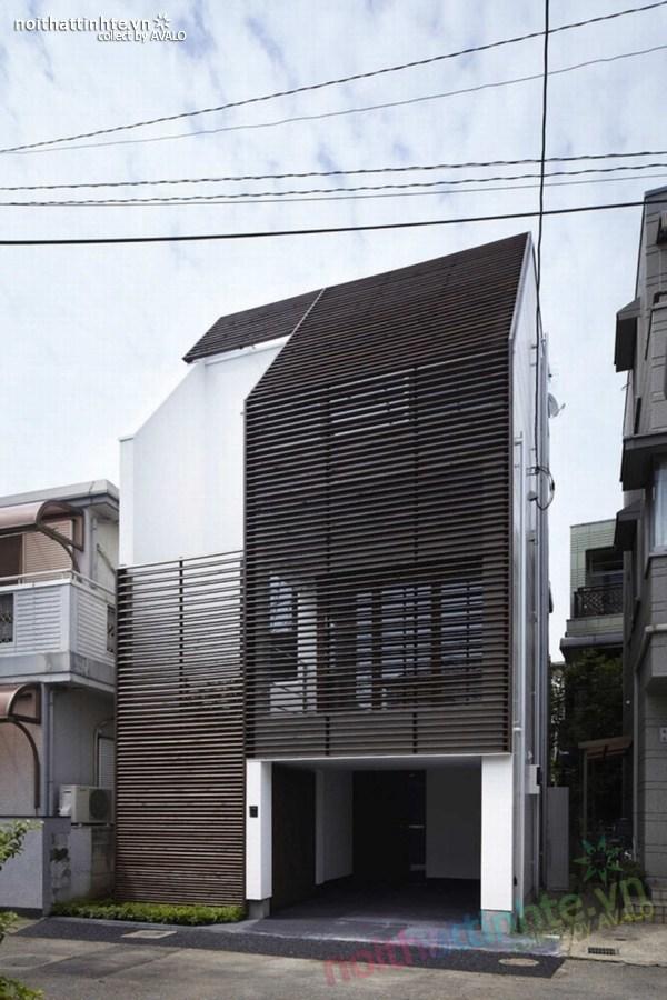 Nhà đẹp 3 tầng màu đen ở Nhật Bản 01
