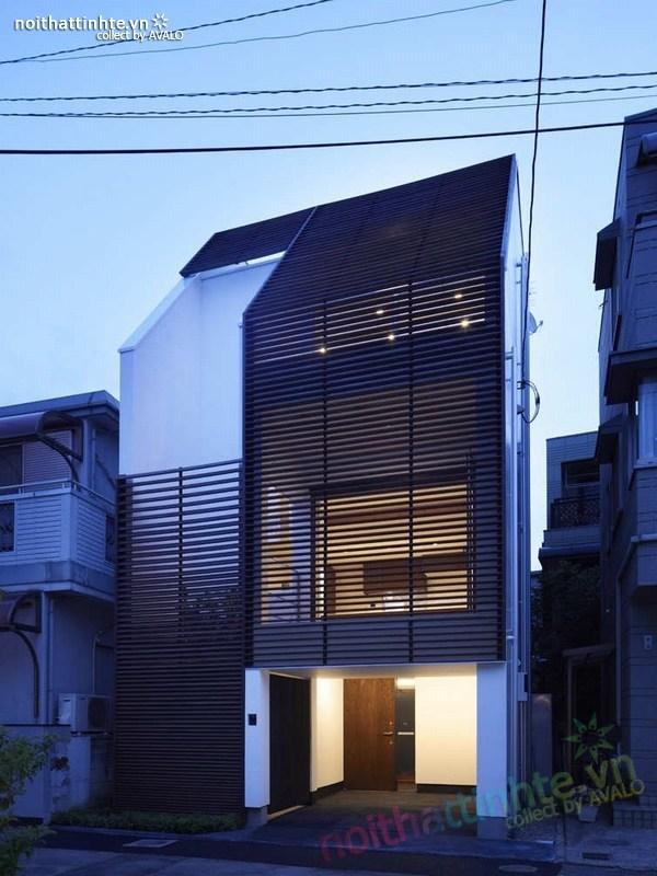 Nhà đẹp 3 tầng màu đen ở Nhật Bản 02