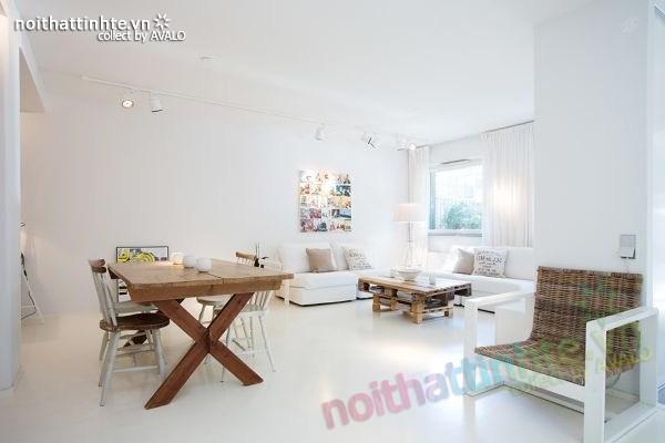 Thiết kế nội thất chung cư 70m2 phong cách Bắc Âu 01