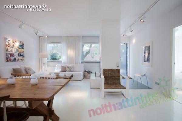 Thiết kế nội thất chung cư 70m2 phong cách Bắc Âu 02