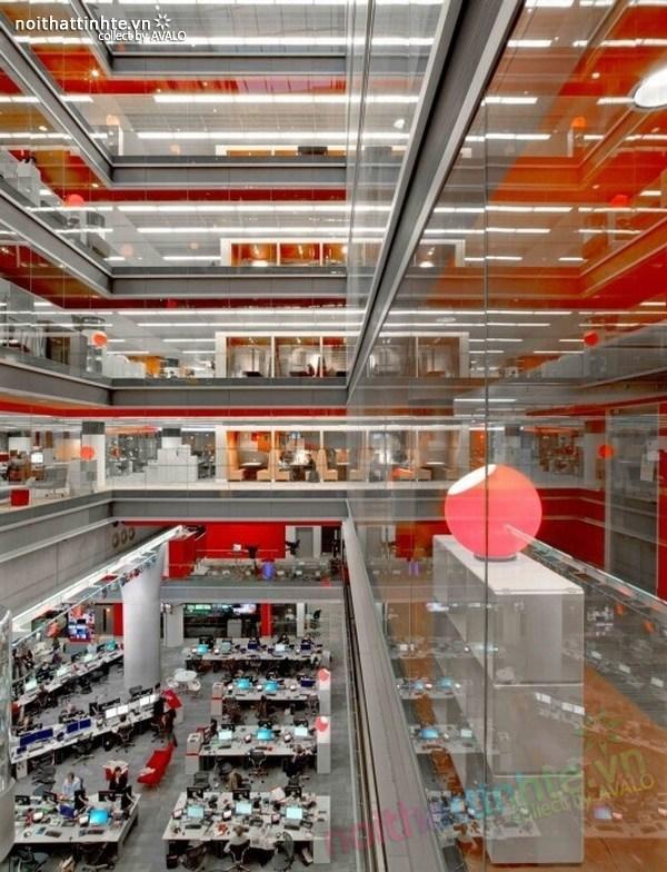 Thiết kế văn phòng hãng thông tấn BBC 11