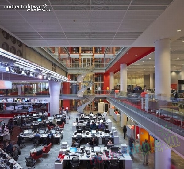 Thiết kế văn phòng hãng thông tấn BBC 05