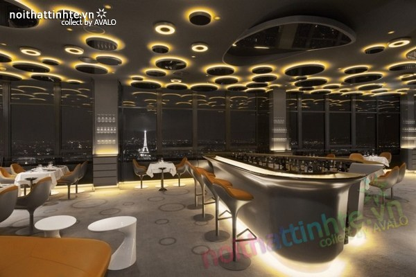 Thiết kế nhà hàng đẹp Ciel de Paris 09
