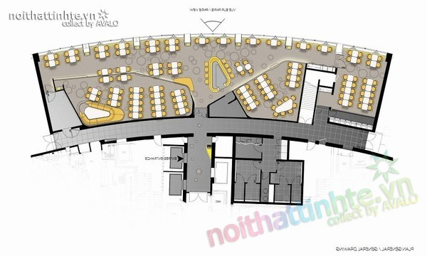 Thiết kế nhà hàng đẹp Ciel de Paris 11