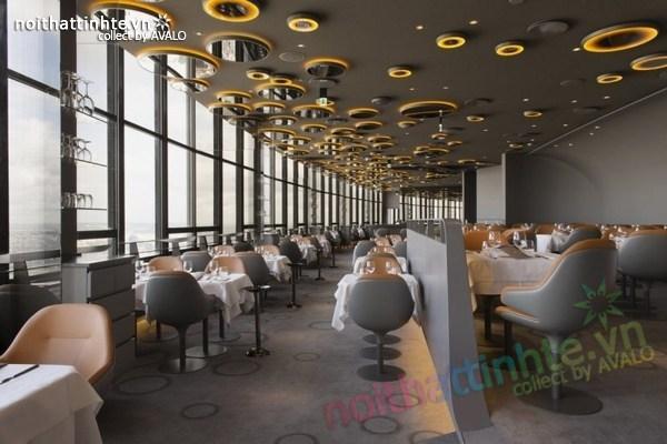 Thiết kế nhà hàng đẹp Ciel de Paris 01