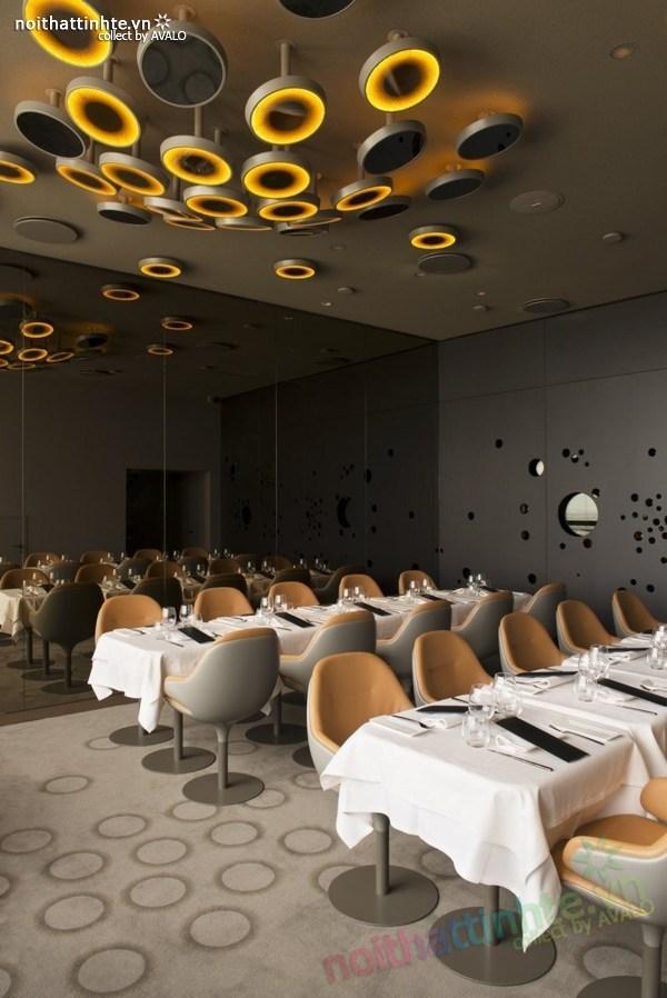Thiết kế nhà hàng đẹp Ciel de Paris 02