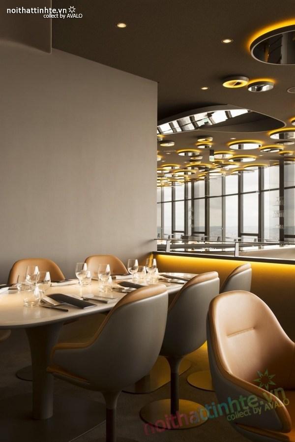 Thiết kế nhà hàng đẹp Ciel de Paris 03