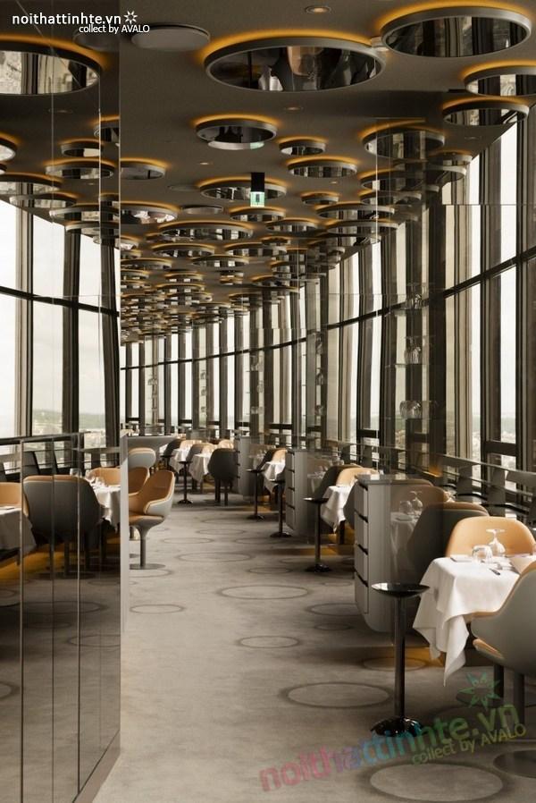 Thiết kế nhà hàng đẹp Ciel de Paris 05