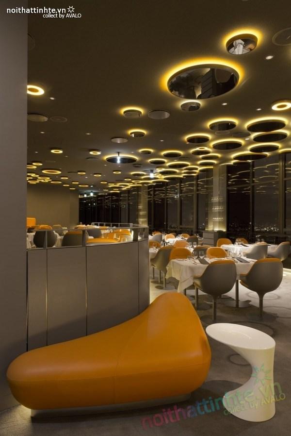 Thiết kế nhà hàng đẹp Ciel de Paris 07