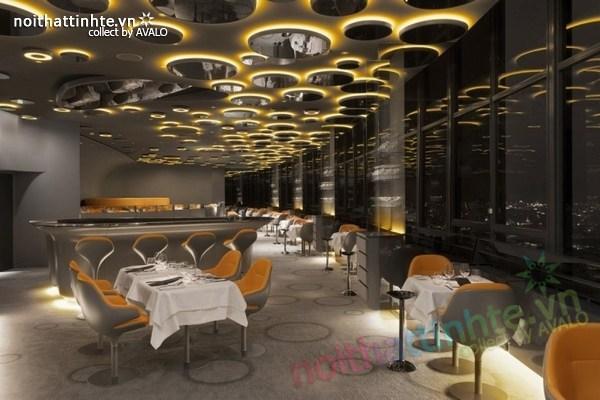 Thiết kế nhà hàng đẹp Ciel de Paris 08