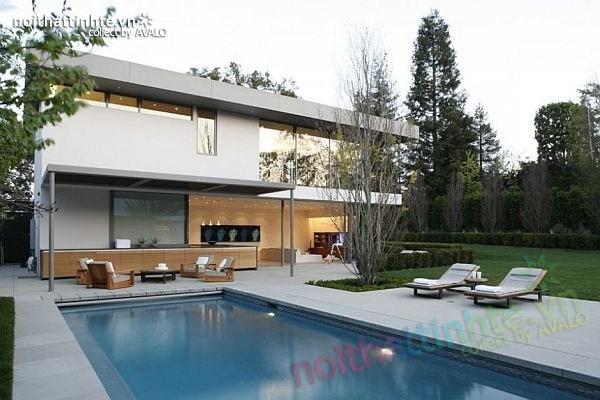 Thiết kế nhà đẹp 2 tầng hiện đại Brentwood Residence 01