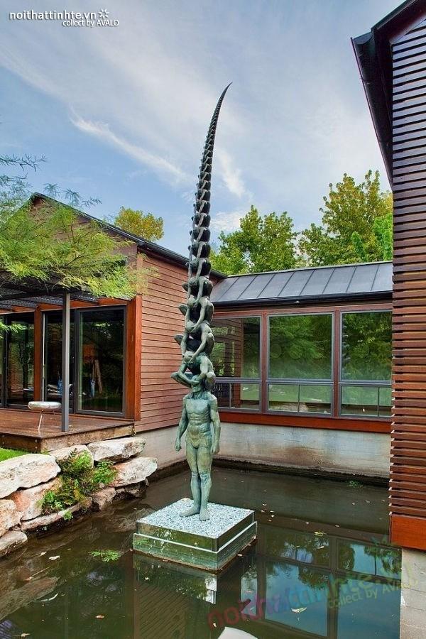 Thiết kế ngôi nhà vườn đẹp The Lake Austin 05