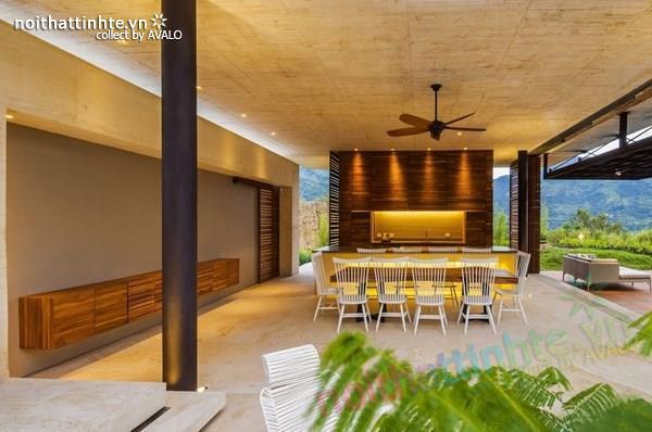 Thiết kế nhà đẹp 1 tầng trên núi với cảnh quan đẹp 10