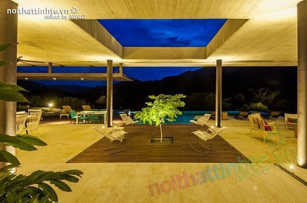 Thiết kế nhà đẹp 1 tầng trên núi với cảnh quan đẹp 12
