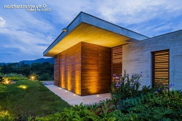 Thiết kế nhà đẹp 1 tầng trên núi với cảnh quan đẹp 14