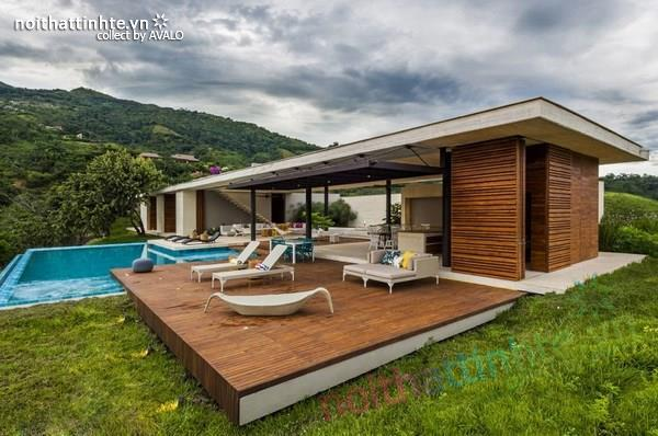 Thiết kế nhà đẹp 1 tầng trên núi với cảnh quan đẹp 03