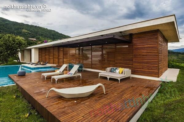 Thiết kế nhà đẹp 1 tầng trên núi với cảnh quan đẹp 04