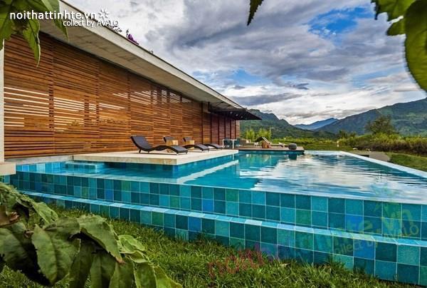 Thiết kế nhà đẹp 1 tầng trên núi với cảnh quan đẹp 06