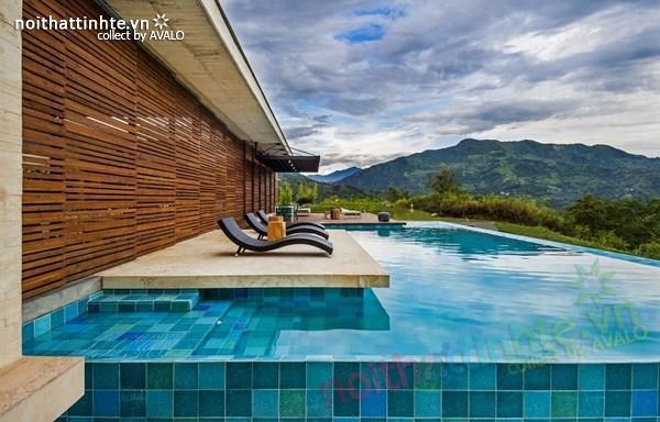 Thiết kế nhà đẹp 1 tầng trên núi với cảnh quan đẹp 07
