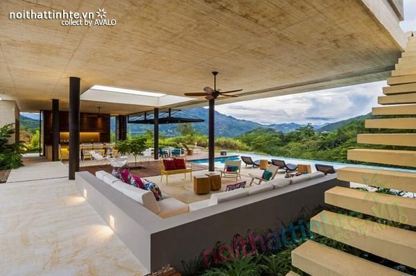 Thiết kế nhà đẹp 1 tầng trên núi với cảnh quan đẹp 08
