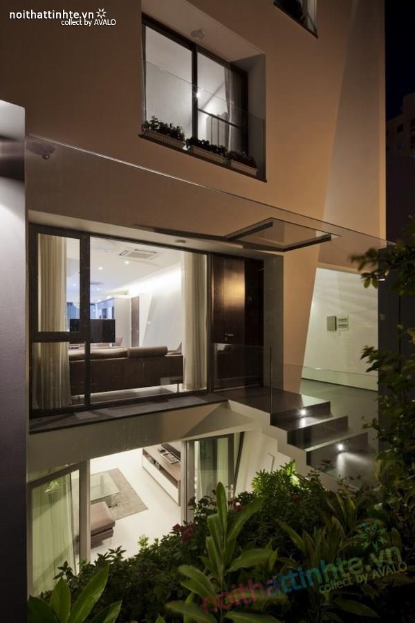 Thiết kế nhà lô phố đẹp, hiện đại tại Sài Gòn 01