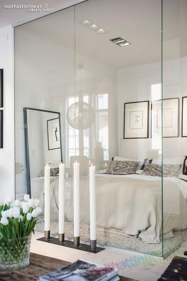 Thiết kế chung cư đẹp tại Thụy Điển nổi bật với vách kính 02