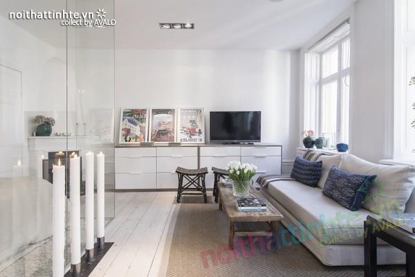 Thiết kế chung cư đẹp tại Thụy Điển nổi bật với vách kính 03