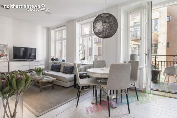 Thiết kế chung cư đẹp tại Thụy Điển nổi bật với vách kính 04