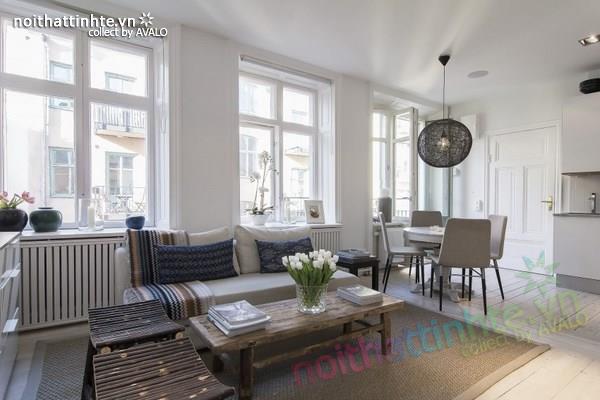 Thiết kế chung cư đẹp tại Thụy Điển nổi bật với vách kính 05
