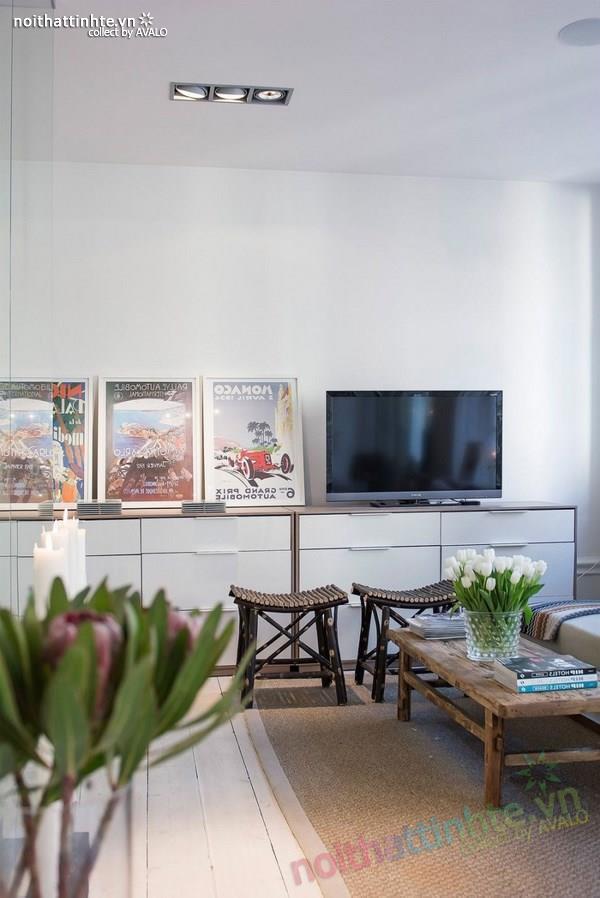 Thiết kế chung cư đẹp tại Thụy Điển nổi bật với vách kính 06