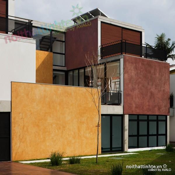 Thiết kế nhà đẹp cổ điển với hình khối độc đáo 01