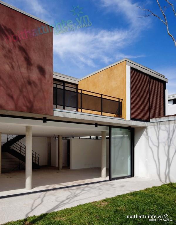 Thiết kế nhà đẹp cổ điển với hình khối độc đáo 03
