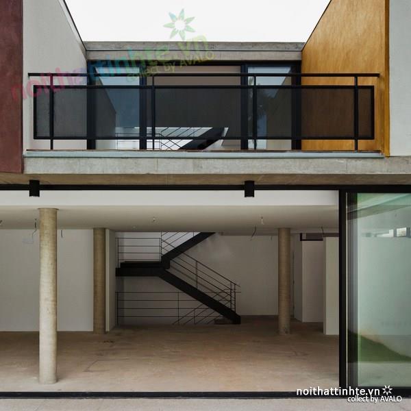 Thiết kế nhà đẹp cổ điển với hình khối độc đáo 04