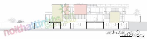 Thiết kế nhà đẹp cổ điển với hình khối độc đáo 08
