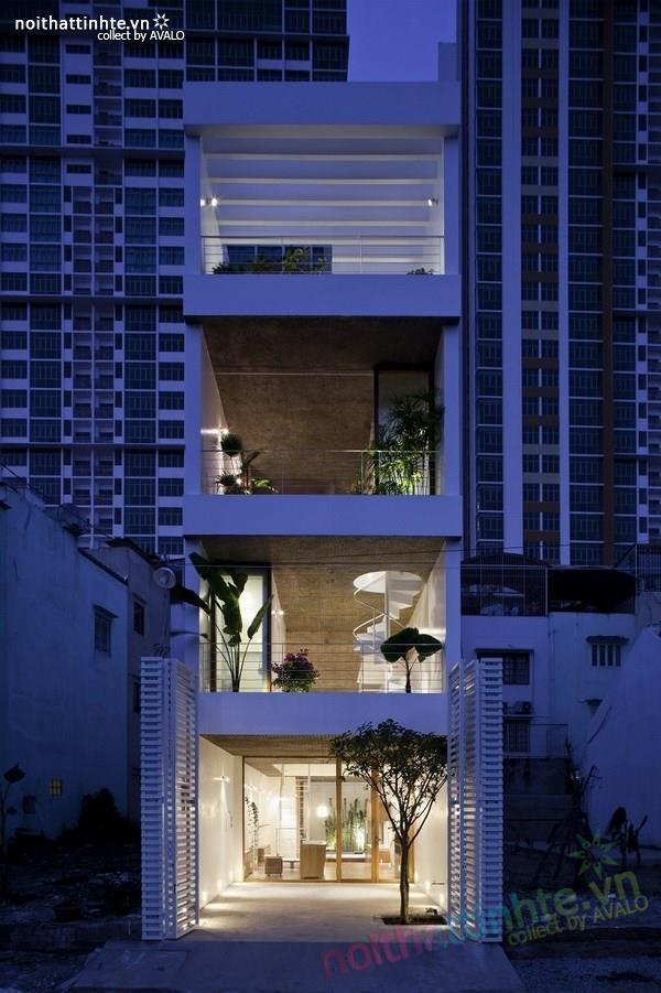 Thiết kế nhà ống đẹp 4 tầng tại TP. Hồ Chí Minh 09