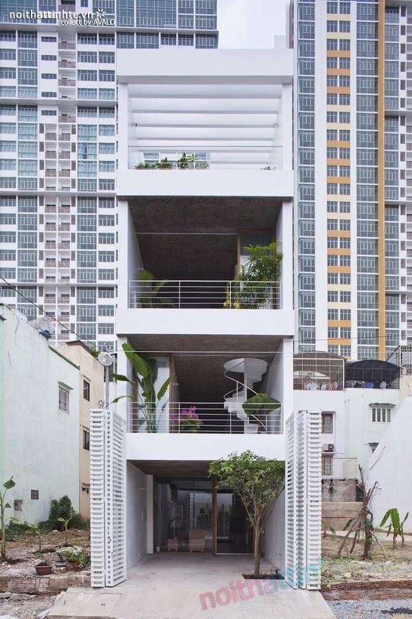 Thiết kế nhà ống đẹp 4 tầng tại TP. Hồ Chí Minh 01
