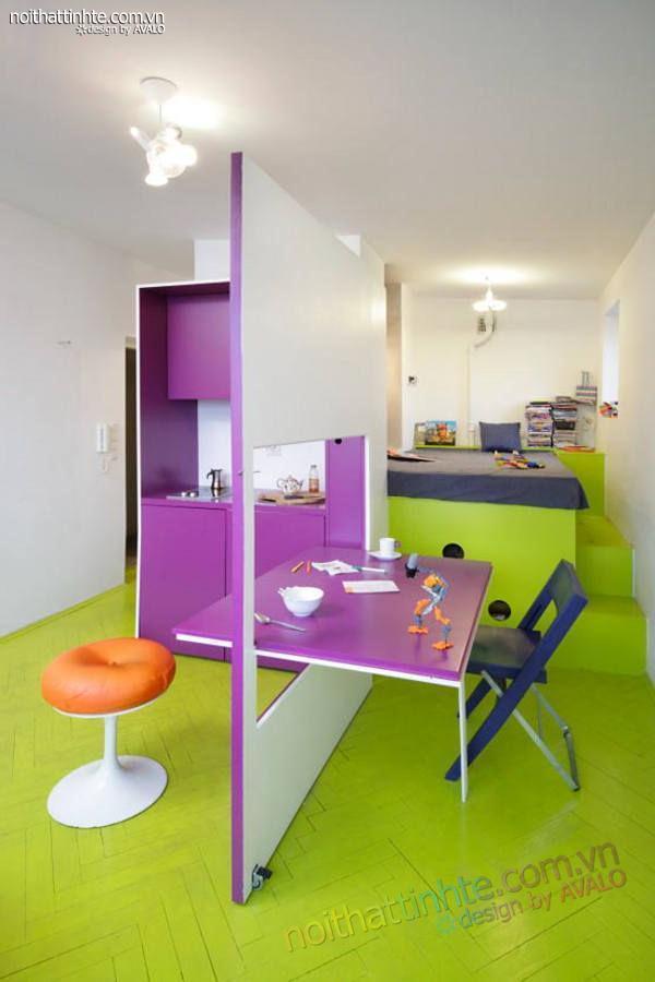 thiết kế nội thất nhà nhỏ đẹp 21m2-02