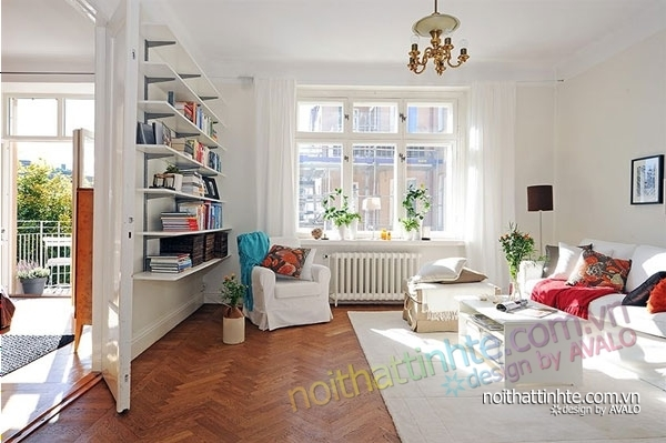 nội thất căn hộ chung cư duyên dáng hài hòa 03