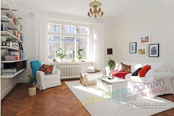 nội thất căn hộ chung cư duyên dáng hài hòa 16