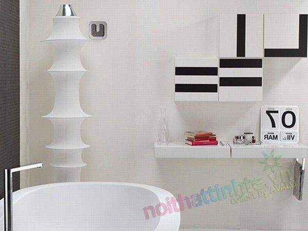 Mẫu nhà tắm đẹp : Black or white