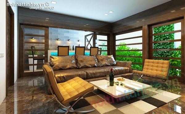 Thiết kế nội thất phòng khách kết hợp phòng nghe nhạc 11